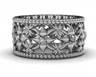 Flower eternity band dia